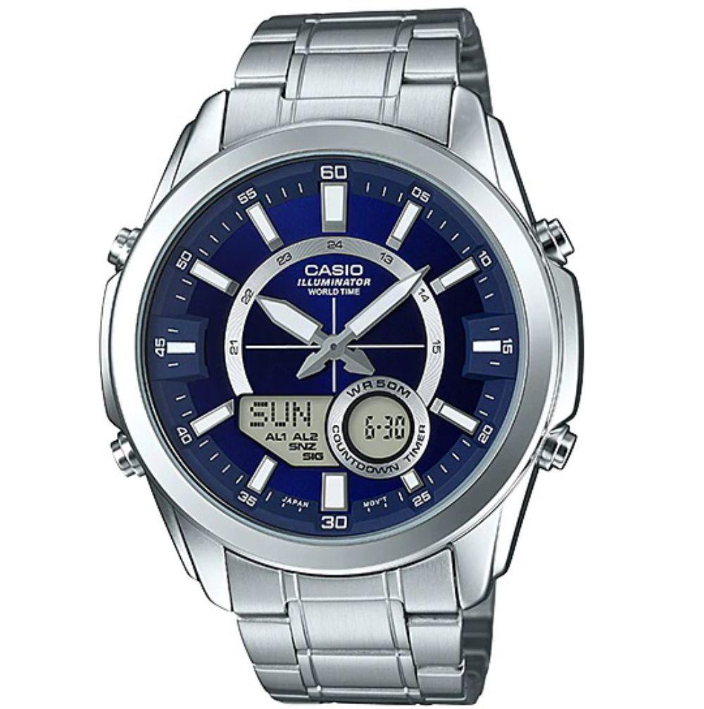 Relógio Casio Masculino World Time Amw-810d-2avdf