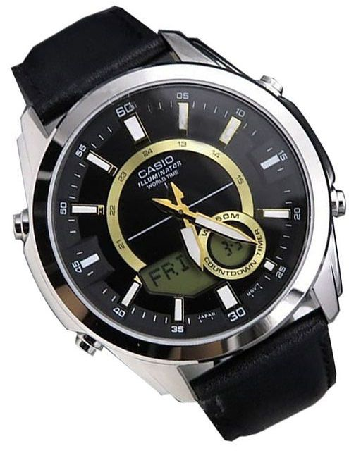 Relógio Casio Masculino World Time Amw-810l-1avdf