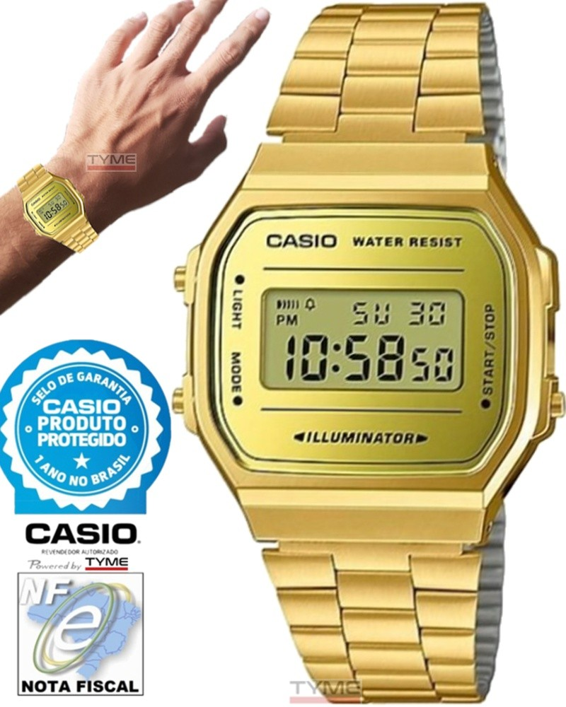 Relógio Casio Vintage Digital A168WEGM-9DF