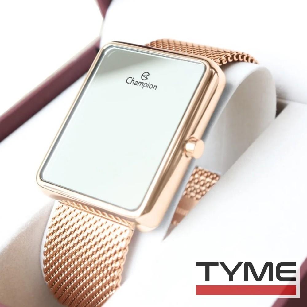 Relógio Champion LED Digital Espelhado Unissex CH40080Z Rosé - LED Branco