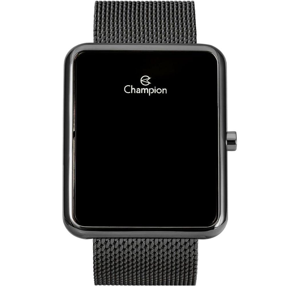 Relógio Champion LED Digital Unissex CH40080D Quadrado Preto - LED Vermelho