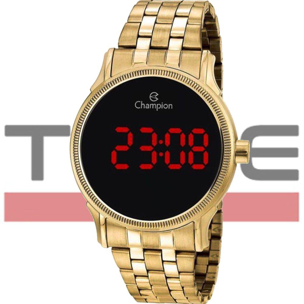Relógio Champion LED Digital Unissex CH40204H Dourado - LED Vermelho