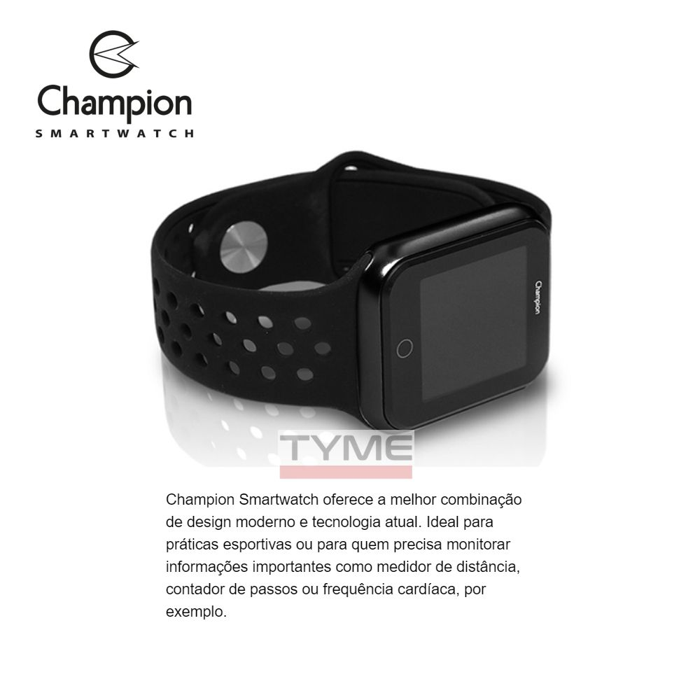 Relógio Champion Smartwatch Bluetooth 4.0 CH50006P