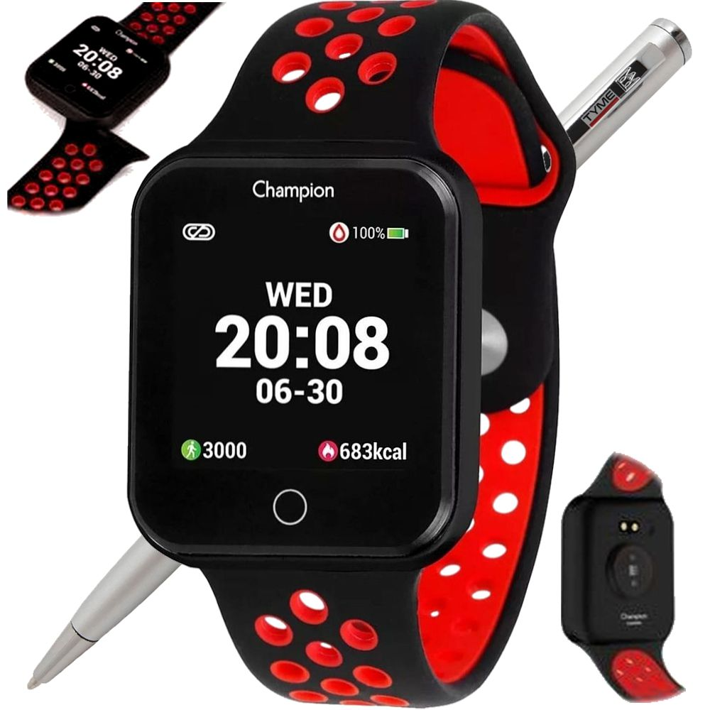 Relógio Champion Smartwatch Bluetooth 4.0 CH50006V Preto/Vermelho