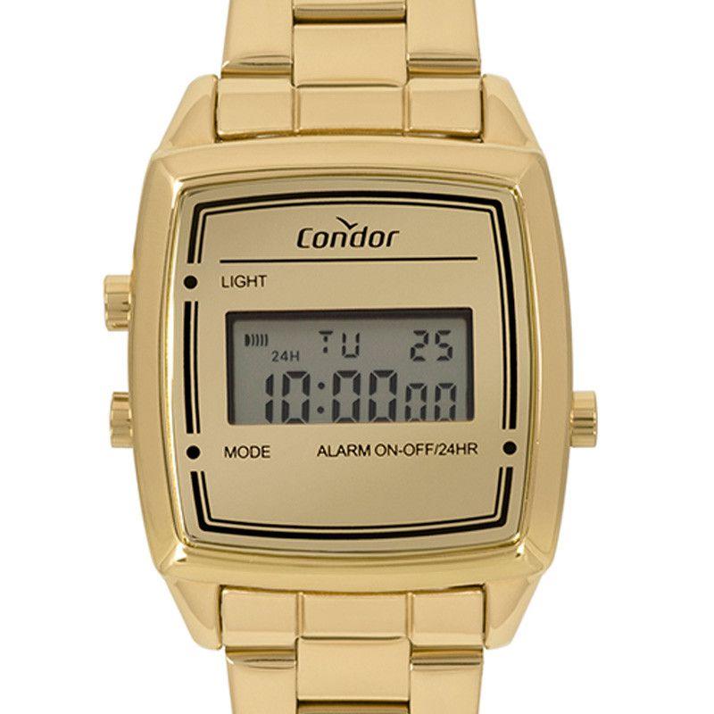Relógio Condor Feminino Vintage Digi COJH512AC/4D Dourado