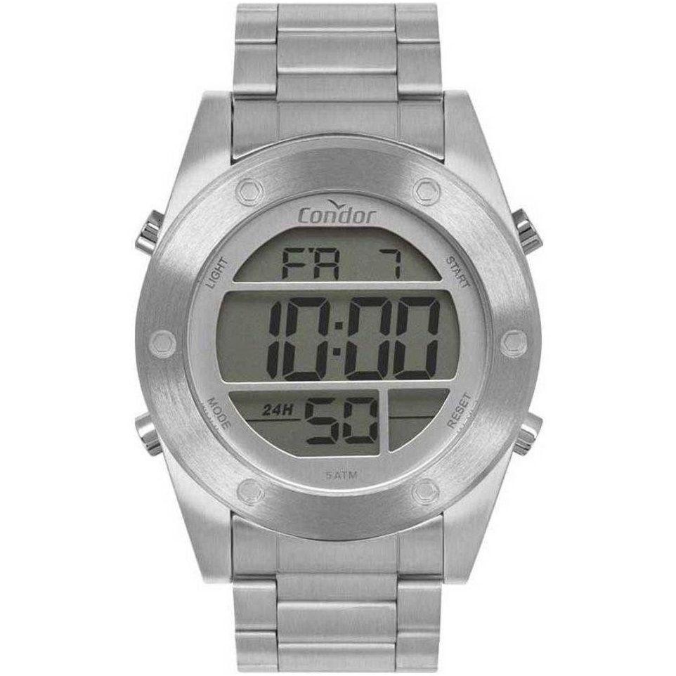 Relógio Condor Masculino Digital COBJ3463AD/3K Prateado