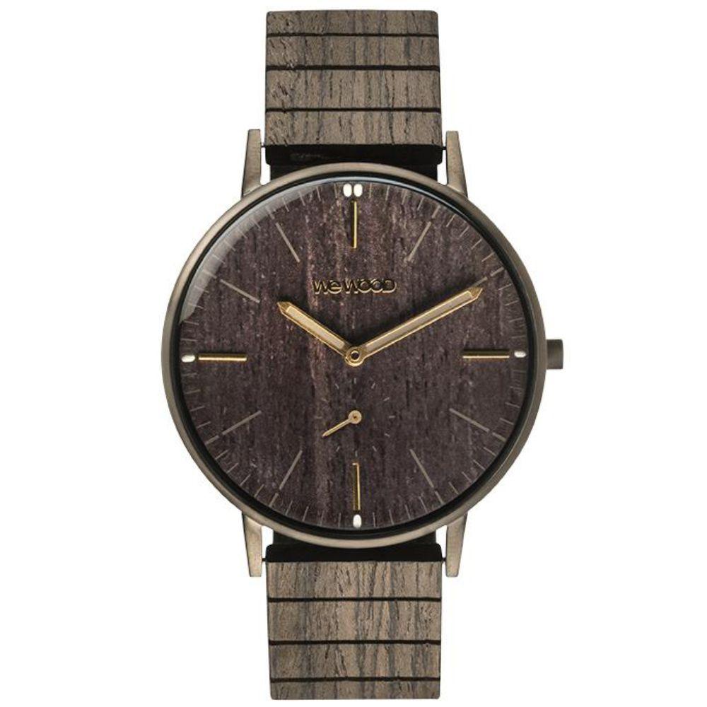 Relógio de Madeira Wewood Masculino Albacore Gun Black WWALB02