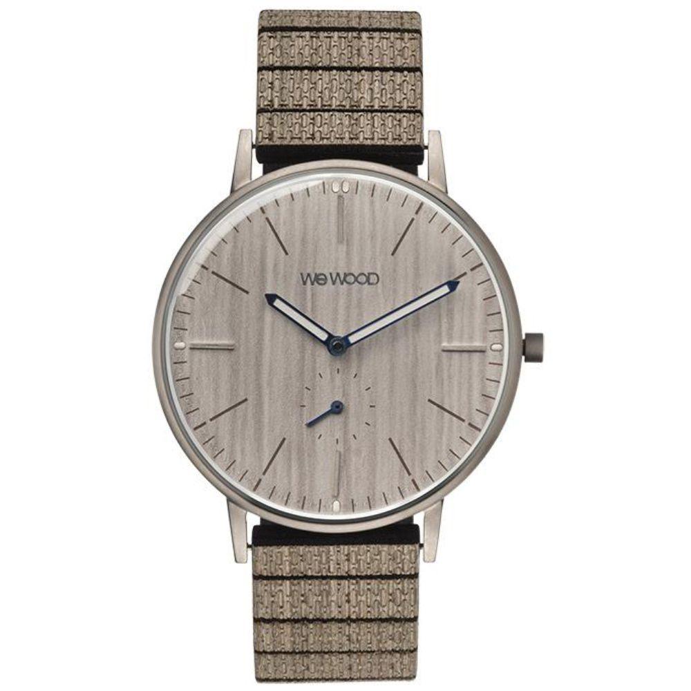 Relógio de Madeira Wewood Masculino Albacore Silver White Pear WWALB01
