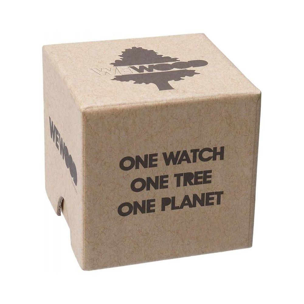 Relógio de Madeira Wewood Masculino Date Mb Choco Rough Emerald WWD17