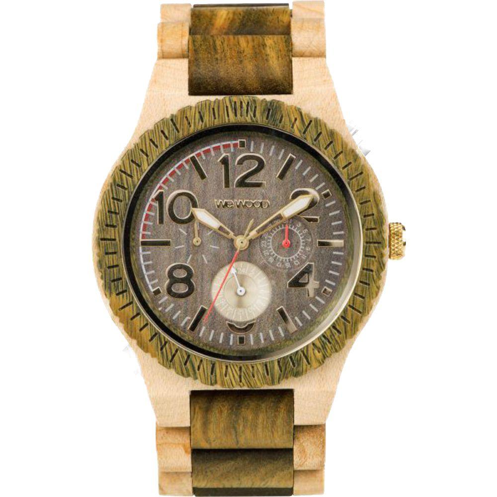 Relógio de Madeira WeWood Masculino Kardo Army Beige WWKR07
