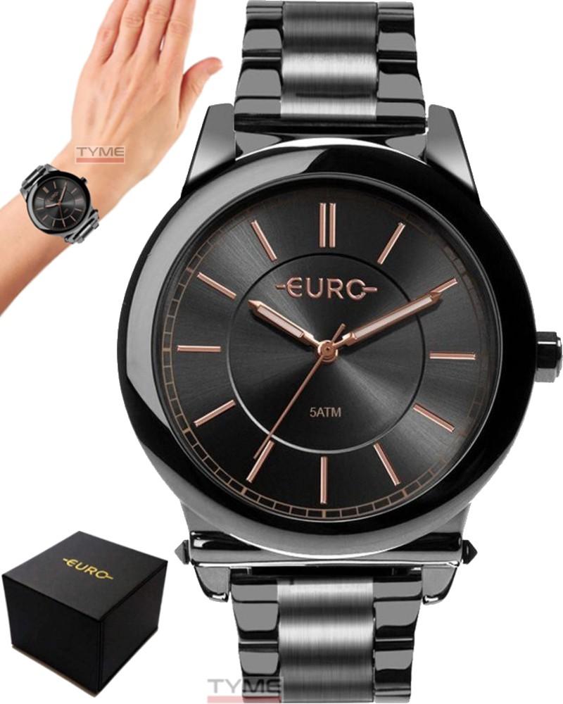 Relógio Euro Feminino Assimetric Glam Grafite EU2036YMS/4C