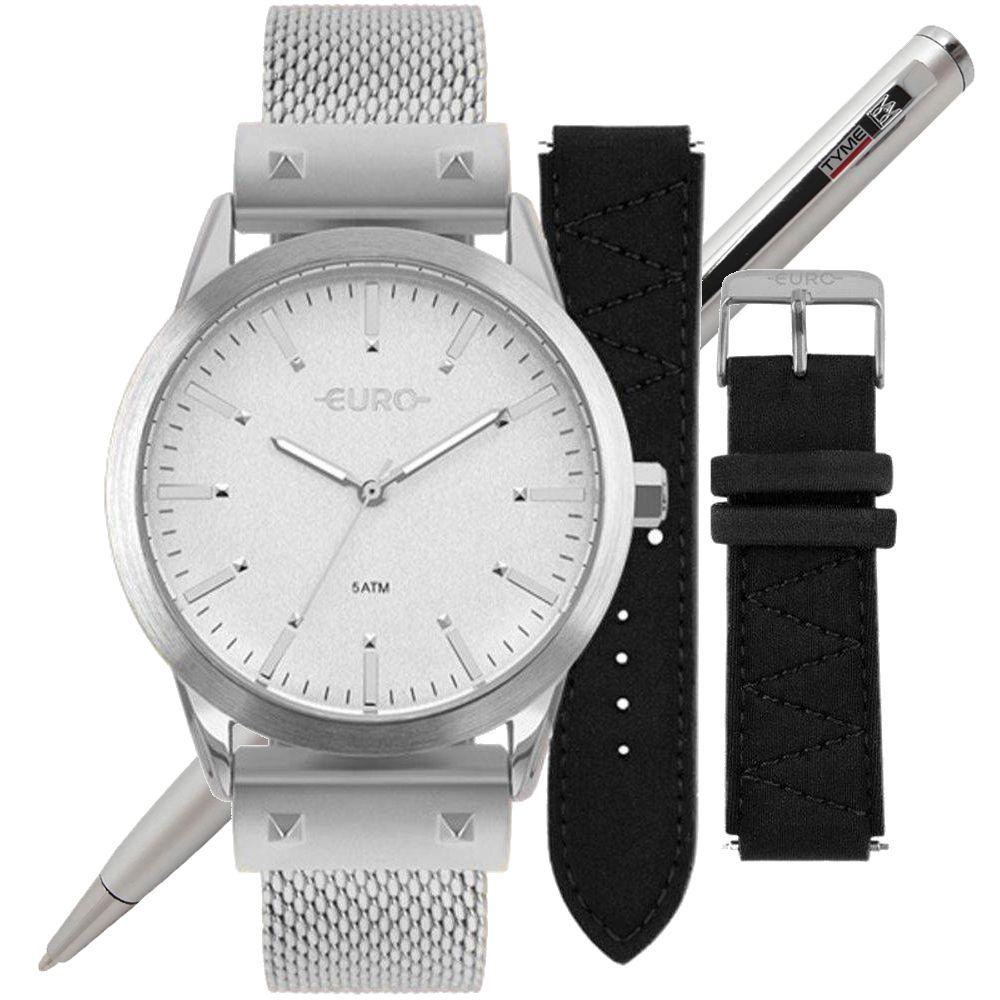 Relógio Euro Feminino Neoprene Troca Pulseiras EU2035YOL/3K