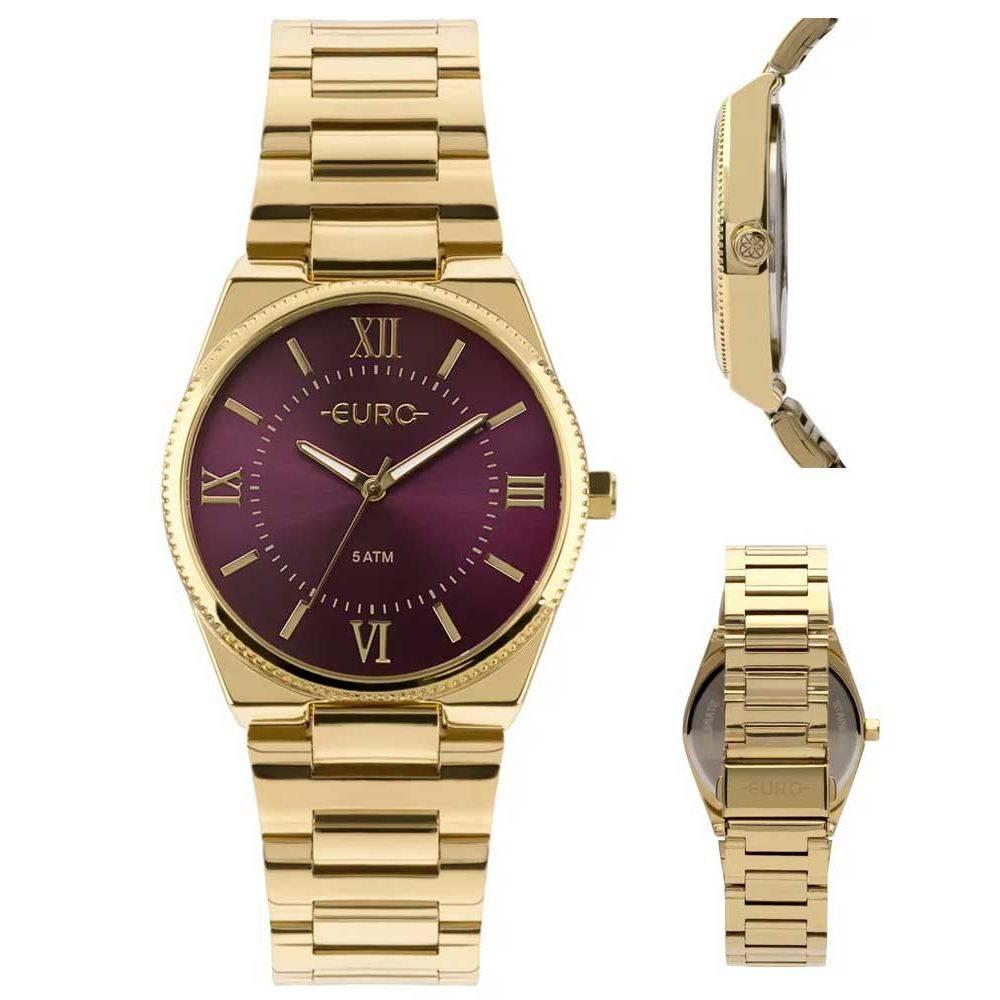Relógio Euro Feminino New Basic EU2035YQS/4N Dourado