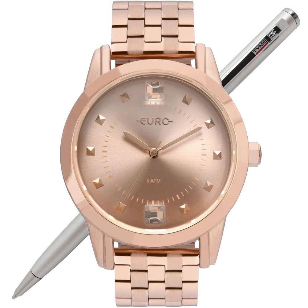 Relógio Euro Feminino Spike Illusion Rosé EU2035YRS/4J