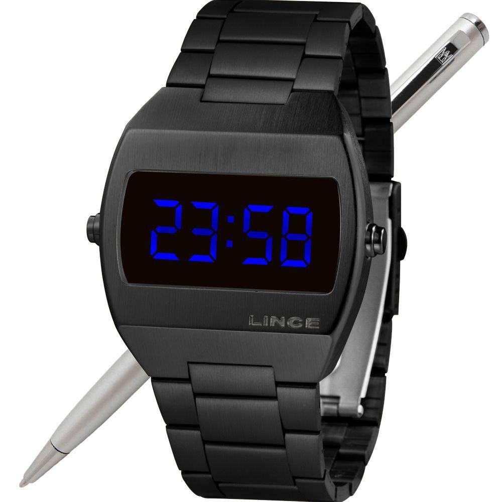 Relógio Lince LED Digital Unissex MDN4621L DXPX Preto - LED Azul