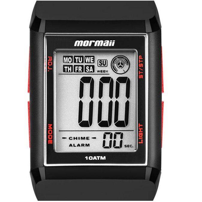 Relógio Mormaii Unissex Wave Digital MO1800/8R Quadrado