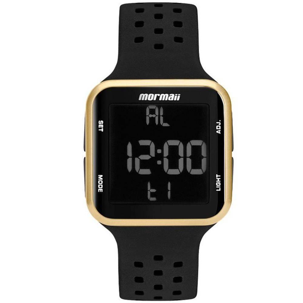 Relógio Mormaii Wave Digital Unissex MO6600/8D Dourado - Pulseira Silicone