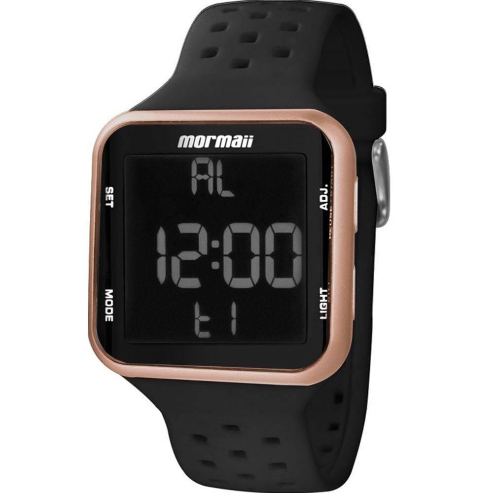 Relógio Mormaii Wave Digital Unissex MO6600/8J Rosé - Pulseira Silicone
