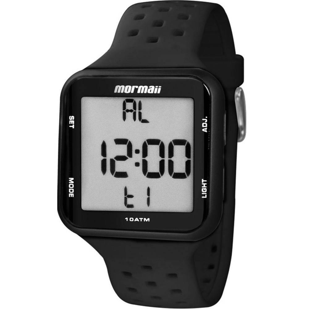 Relógio Mormaii Wave Digital Unissex MO6600/8P Preto - Pulseira Silicone