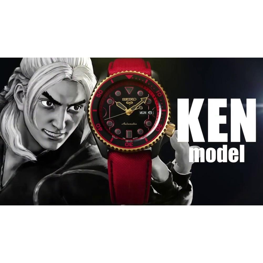 Relogio New Seiko 5 Sports Automático Street Fighter Ken Edition Limited SRPF20K1 P1VX