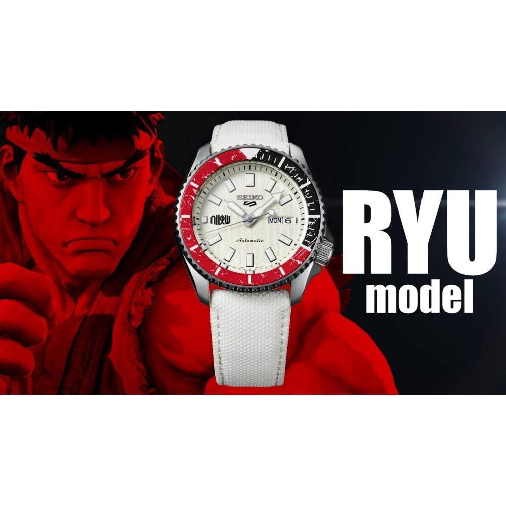 Relogio New Seiko 5 Sports Automático Street Fighter Ryu Edition Limited SRPF19K1 B1BX