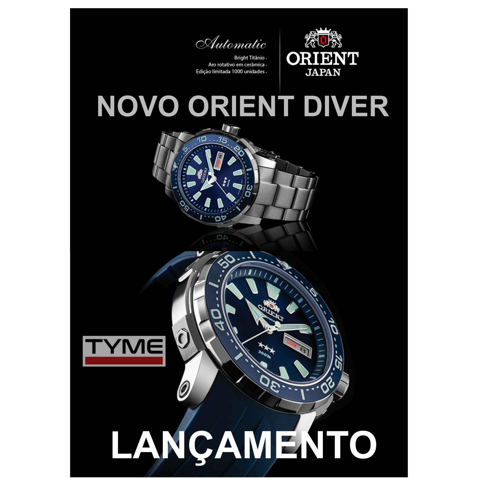 Relógio Orient Diver Automático Ed Limitada F49TT001 D1GX Titânio - Poseidon