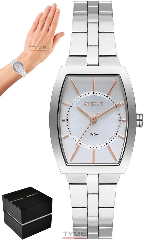 Relógio Orient Feminino LBSS0083 S1SX Quadrado Prateado