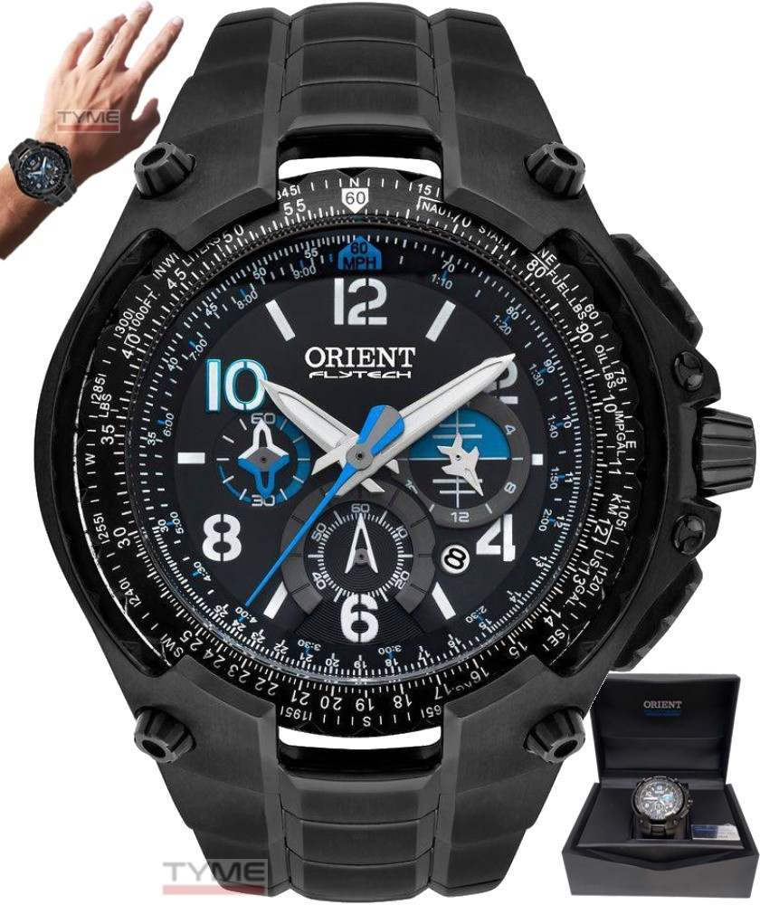 Relógio Orient Flytech Ed. Limitada 10 Anos MPTTC001 P2PX Titânio Black