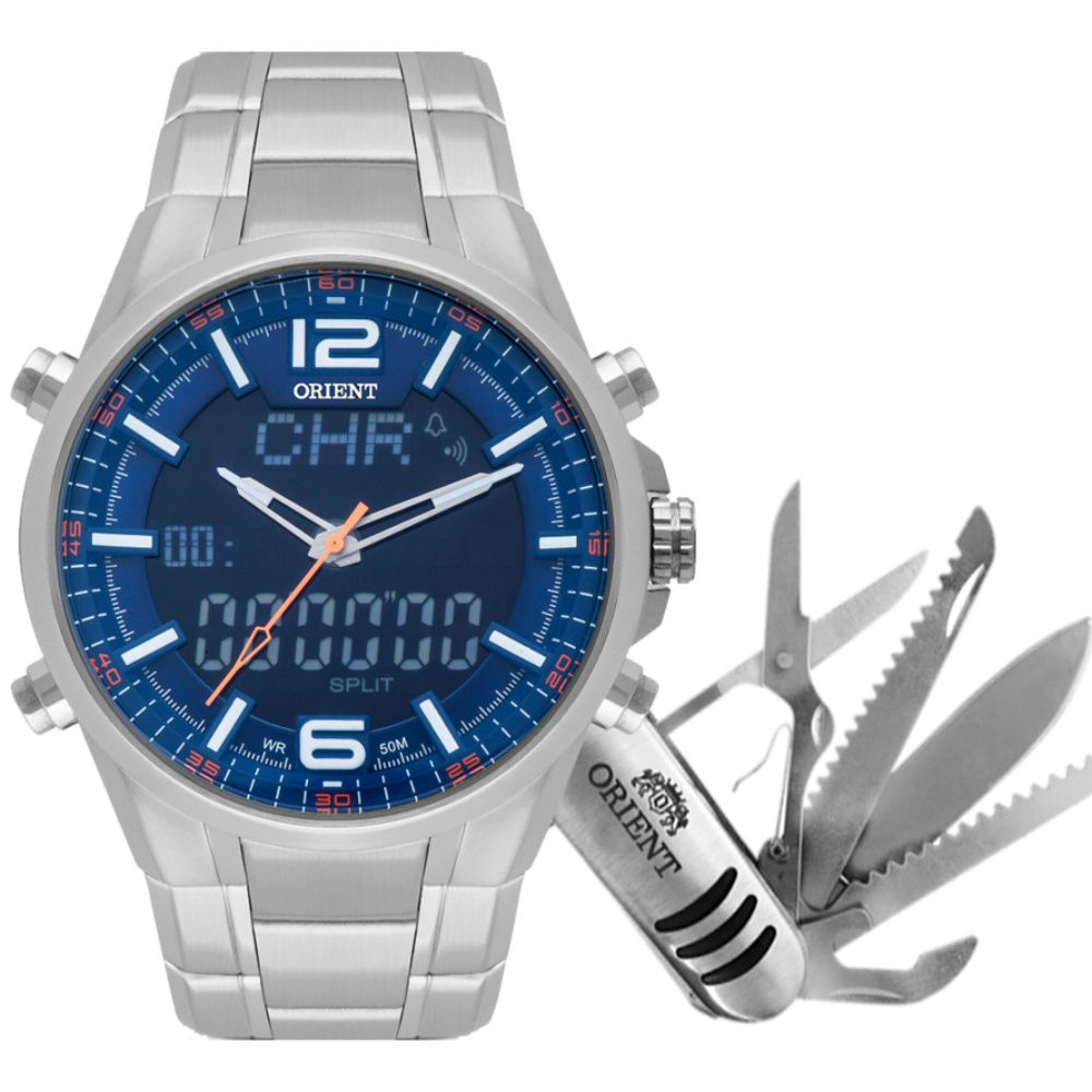Relógio Orient Masculino Anadigi Sports MBSSA048 D2SX com Canivete