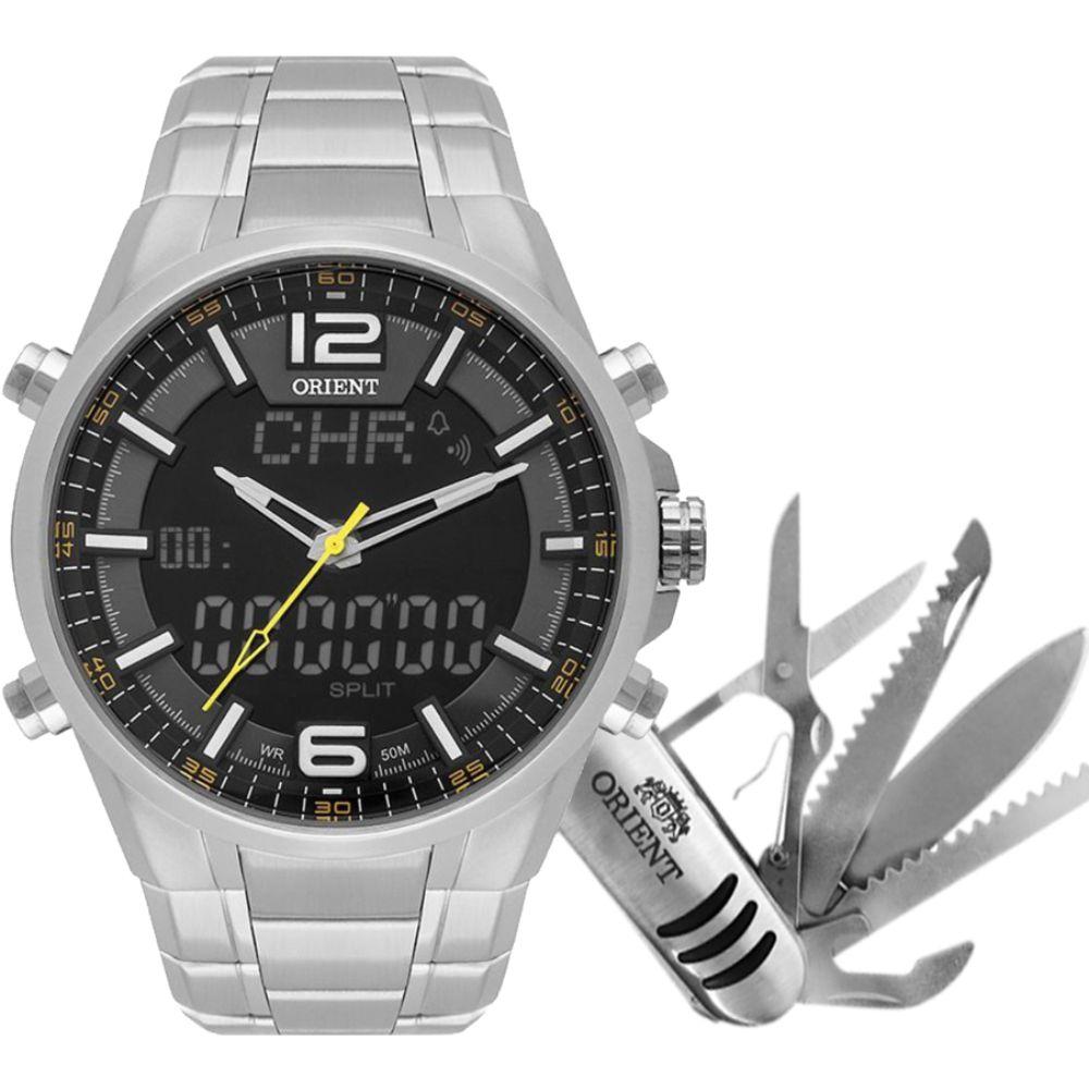 Relógio Orient Masculino Anadigi Sports MBSSA048 P2SX com Canivete