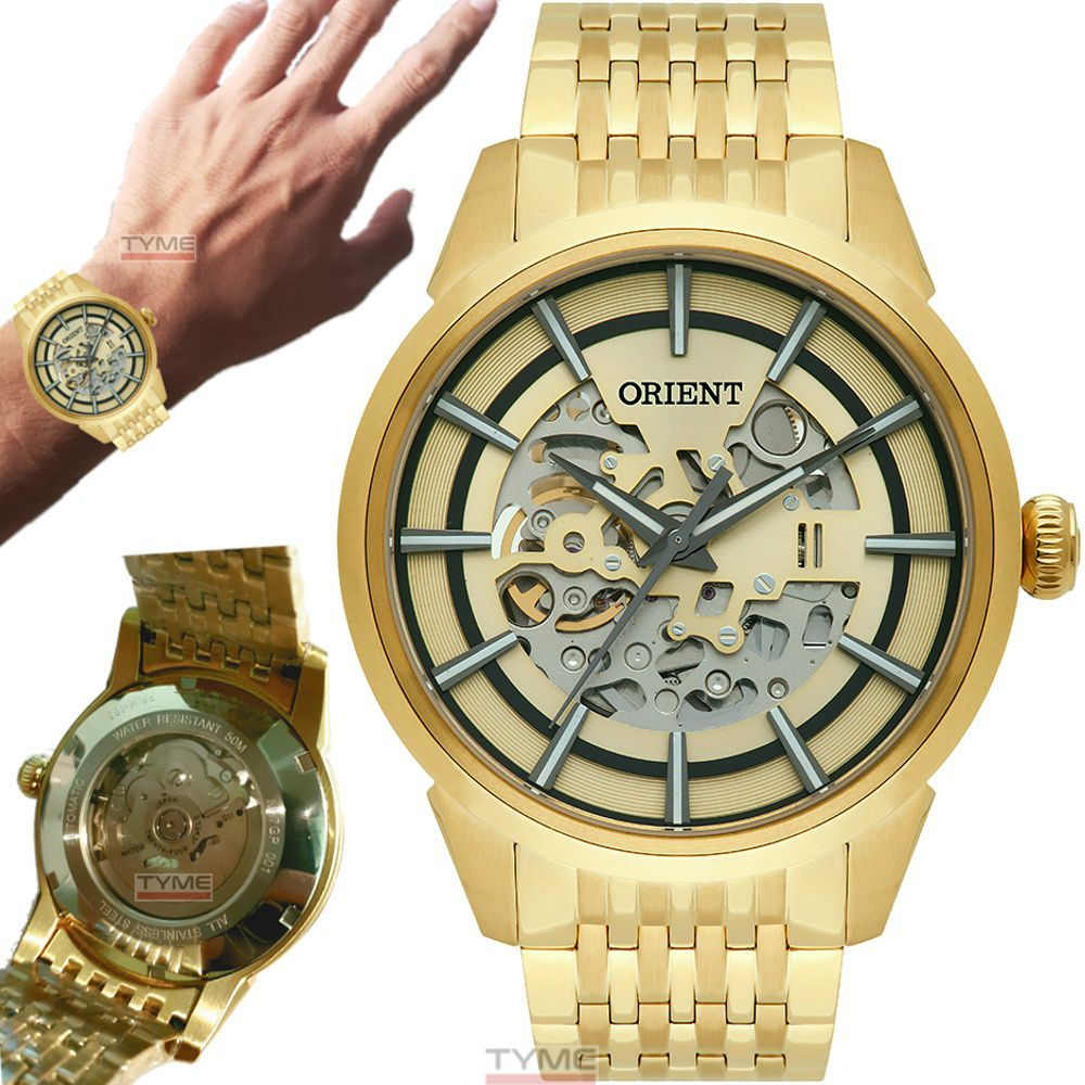 Relógio Orient Masculino Automático Esqueleto NH7GP001 C1KX