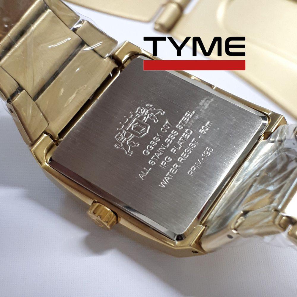 Relógio Orient Masculino Dourado Retangular GGSS1007 C2KX