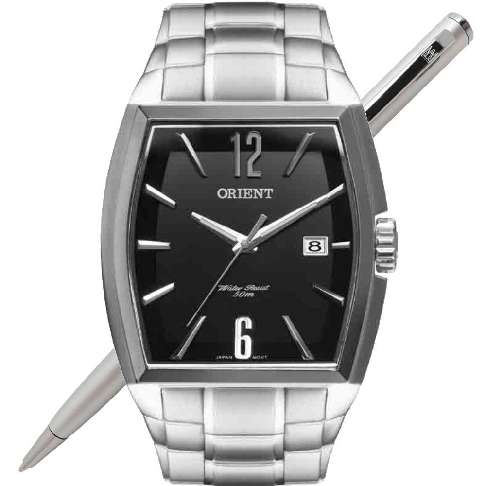 Relógio Orient Masculino GBSS1050 P2SX Quadrado Analógico