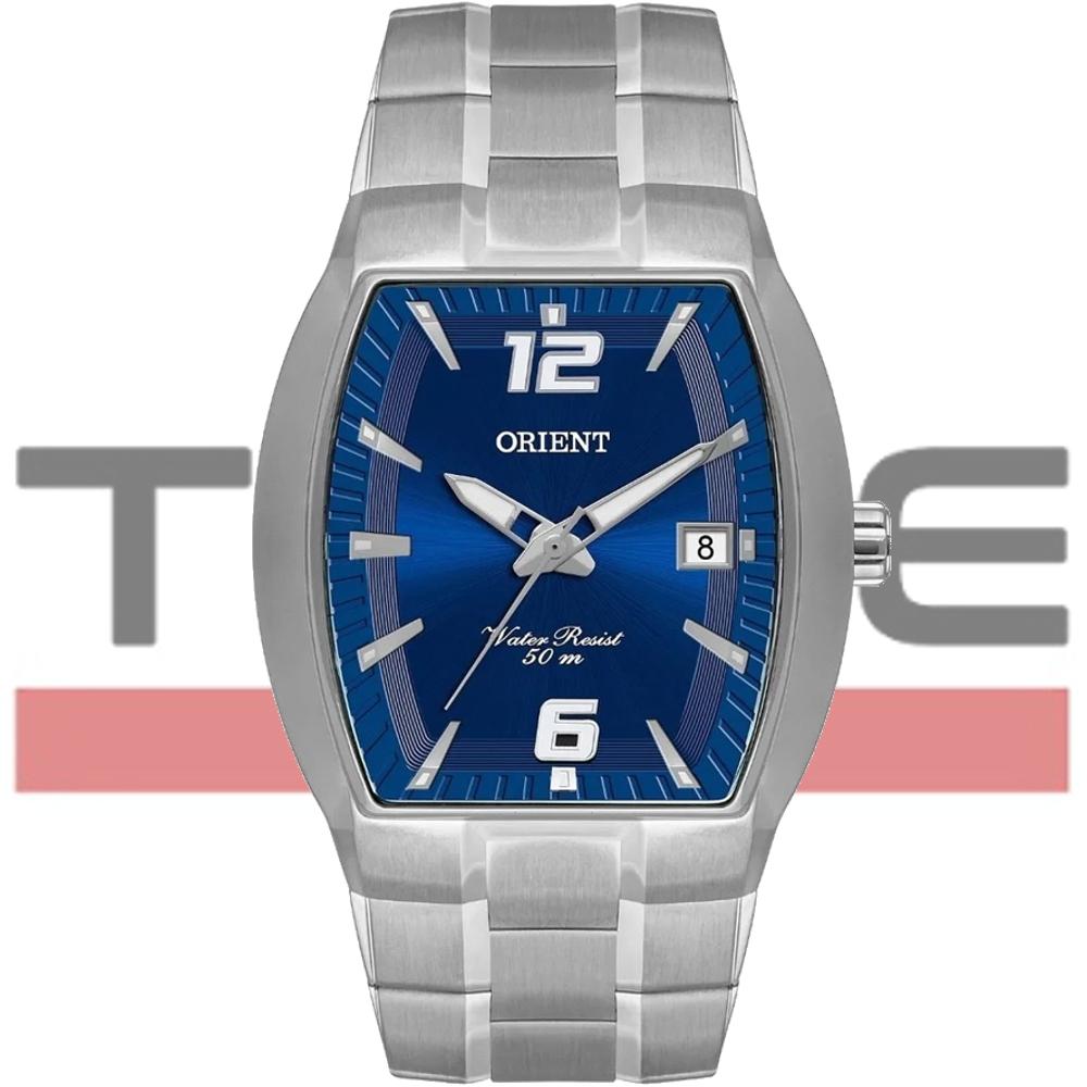Relógio Orient Masculino GBSS1053 D2SX Quadrado Prateado Azul