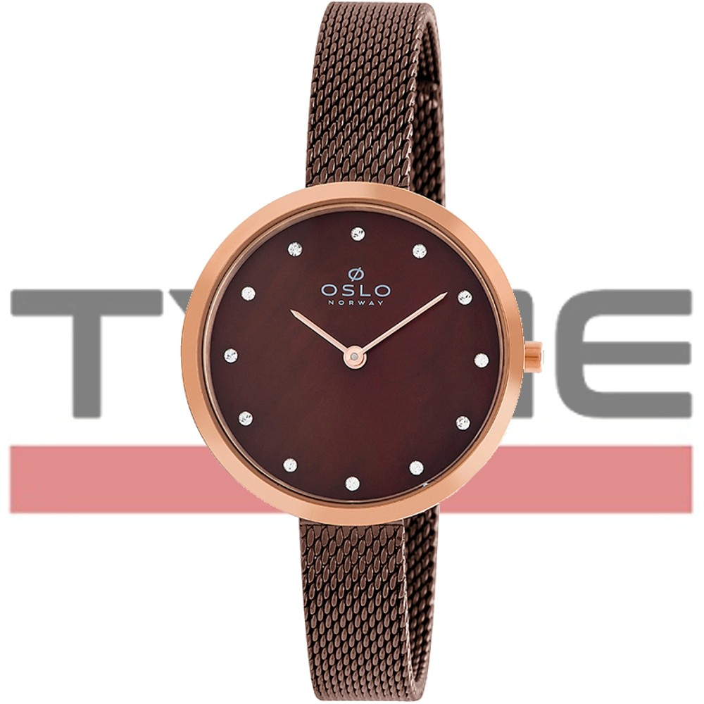Relógio Oslo Feminino Slim Safira Marrom OFTSSS9T0009 N1NX