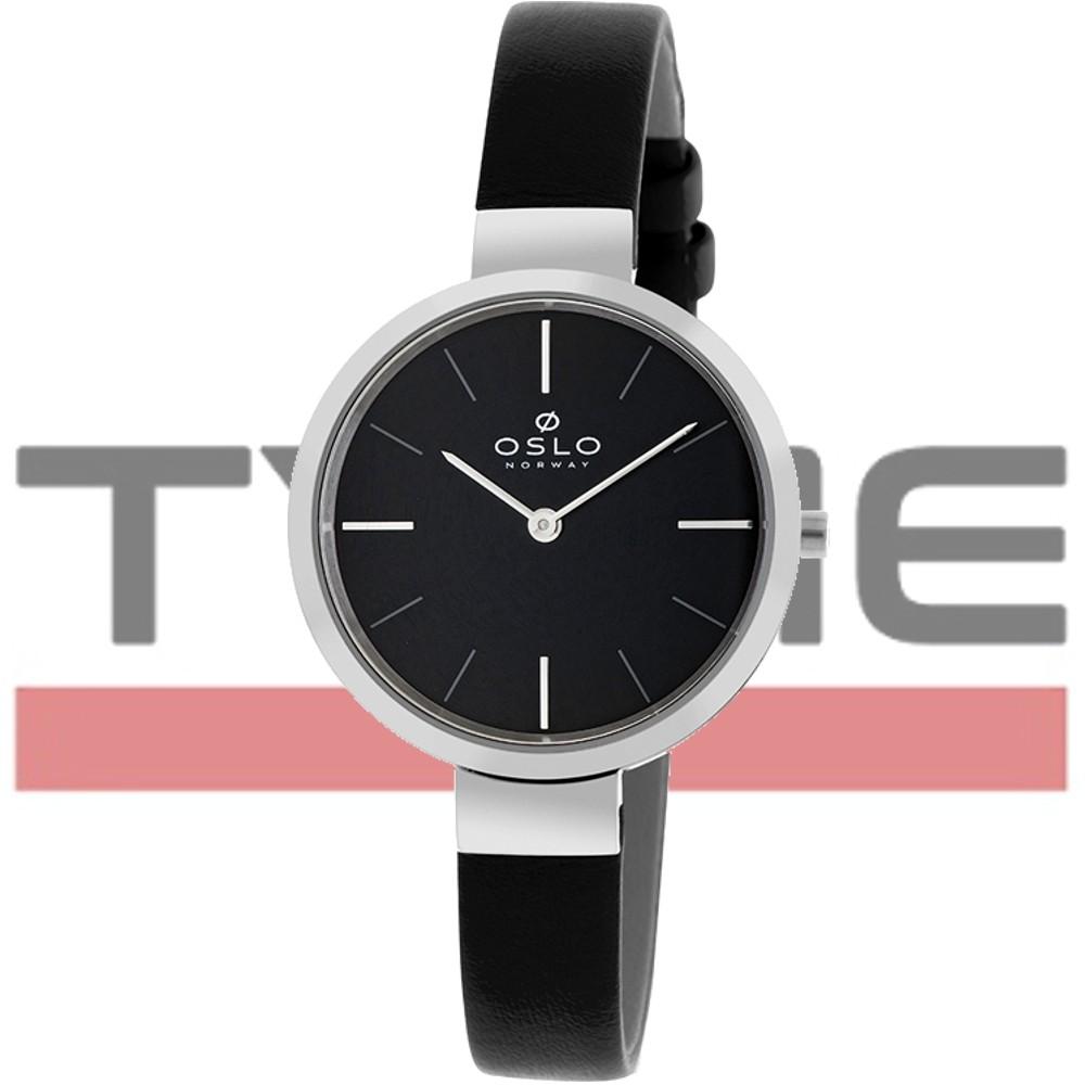 Relógio Oslo Feminino Slim Safira OFBSCS9T0001 P1PX Preto
