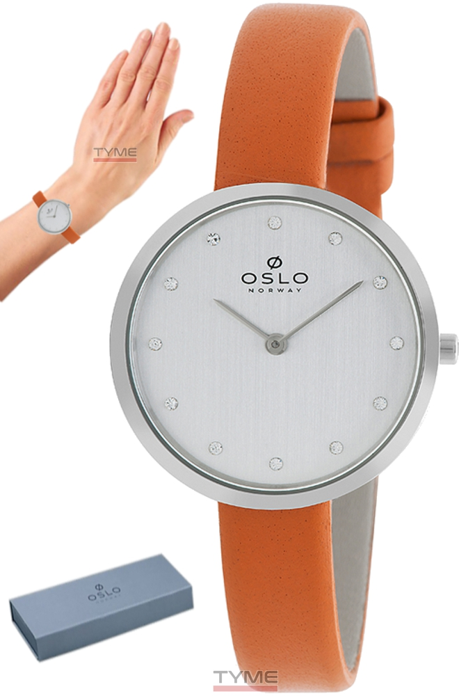 Relógio Oslo Feminino Slim Safira OFBSCS9T0003 S1MX Couro