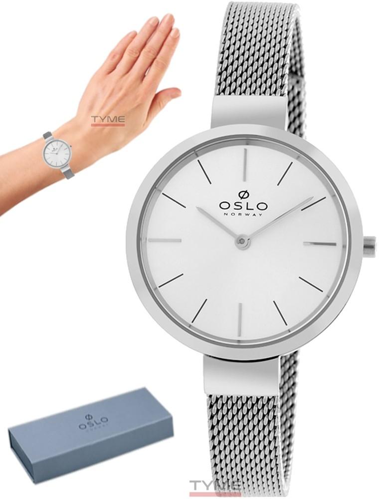 Relógio Oslo Feminino Slim Safira Prateado OFBSSS9T0001 S1SX