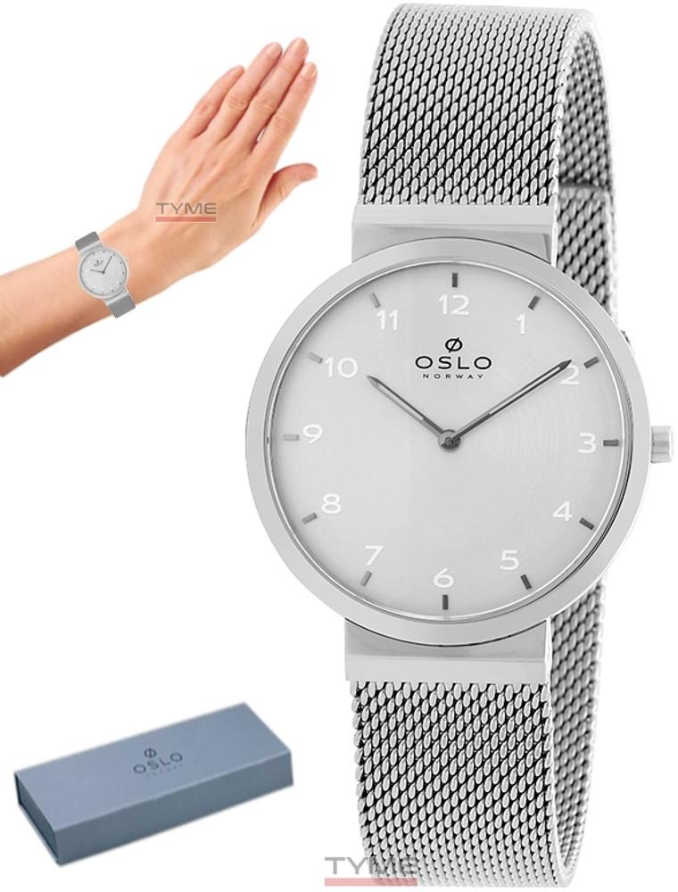 Relógio Oslo Feminino Slim Safira Prateado OFBSSS9T0005 S1SX
