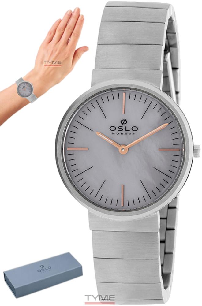 Relógio Oslo Feminino Slim Safira Prateado OFBSSS9T0008 I1SX