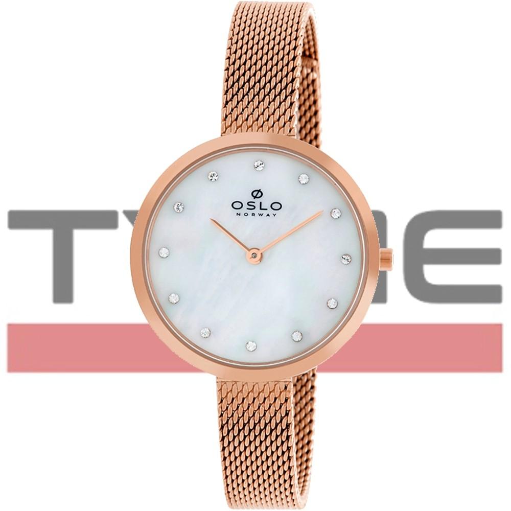 Relógio Oslo Feminino Slim Safira Rosegold OFRSSS9T0002 B1RX