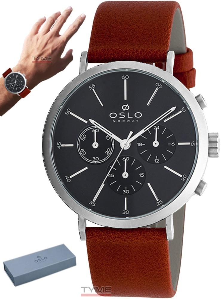 Relógio Oslo Masculino Slim Safira Cronógrafo OMBSCCVD0002 P1MX