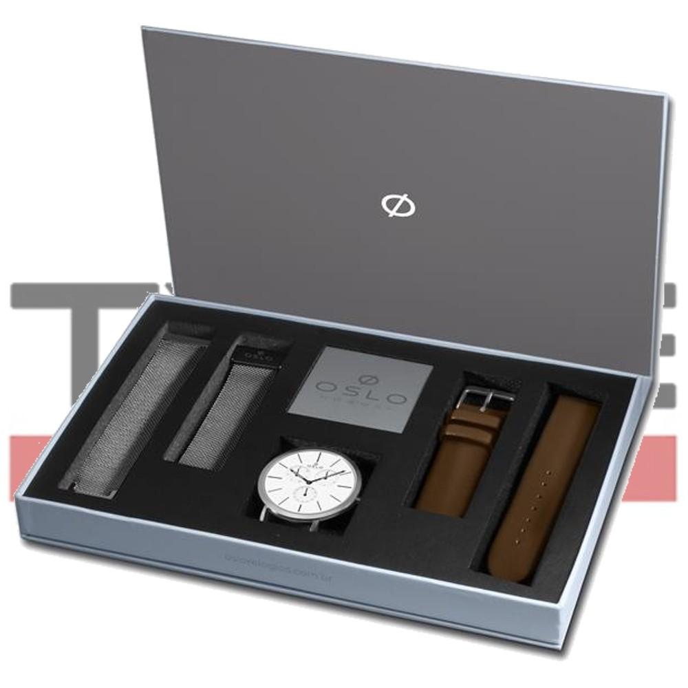 Relógio Oslo Masculino Slim Safira OMBSSMVDO002 S1MX - Box Especial