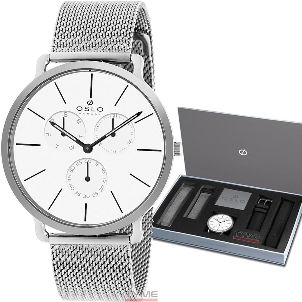 Relógio Oslo Masculino Slim Safira OMBSSMVDO002 S1PX - Box Especial