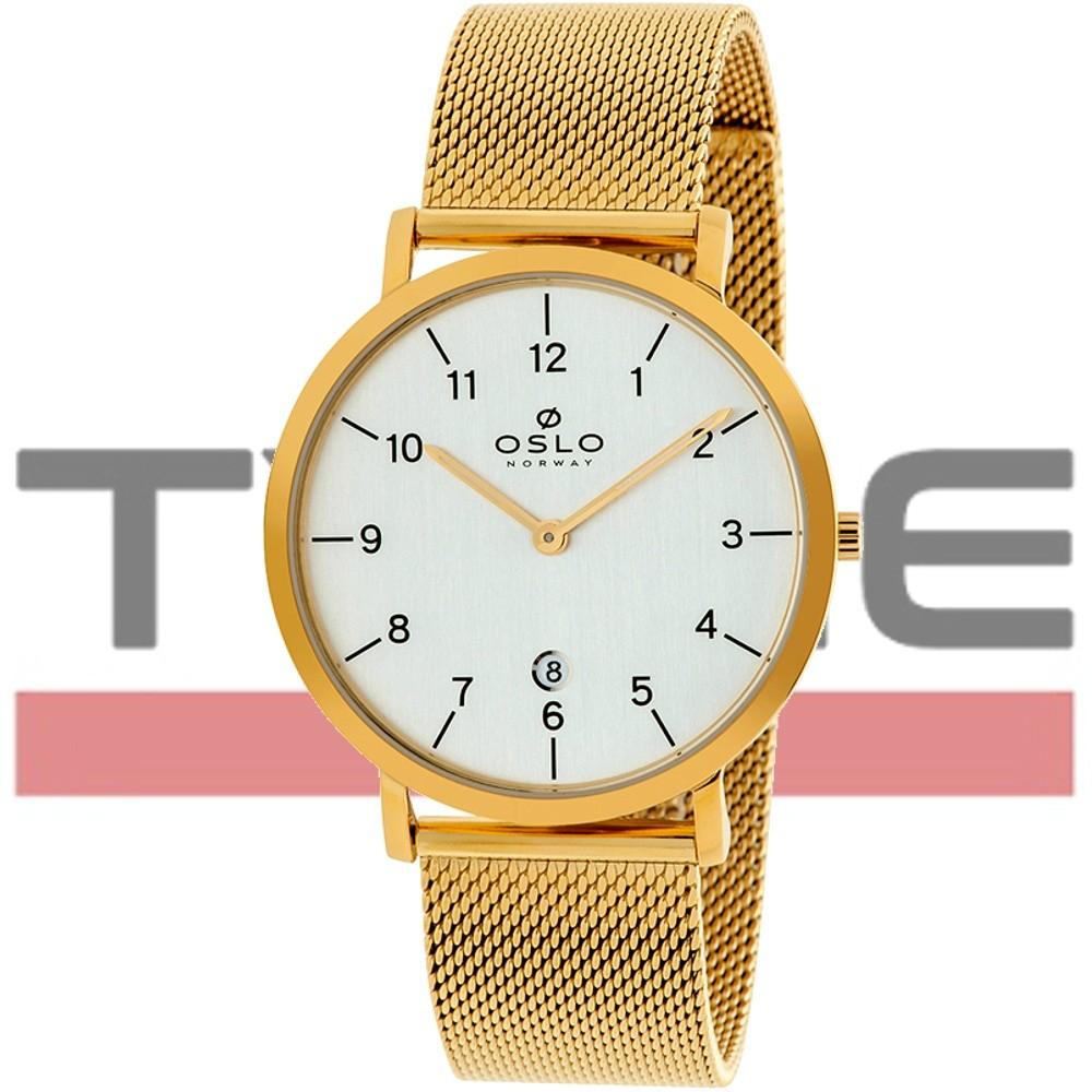 Relógio Oslo Masculino Slim Safira OMGSSS9U0001 S2KX Dourado