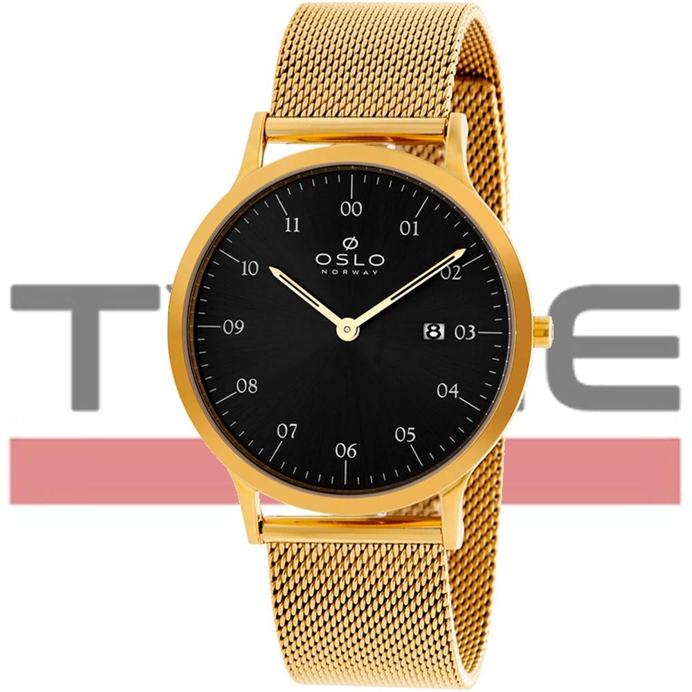 Relógio Oslo Masculino Slim Safira OMGSSS9U0002 G2KX Dourado