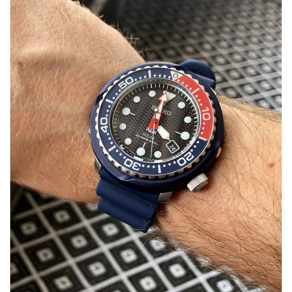 Relogio Seiko Solar Diver Masculino SNE499B1 P1DX Edição Especial Padi Tuna