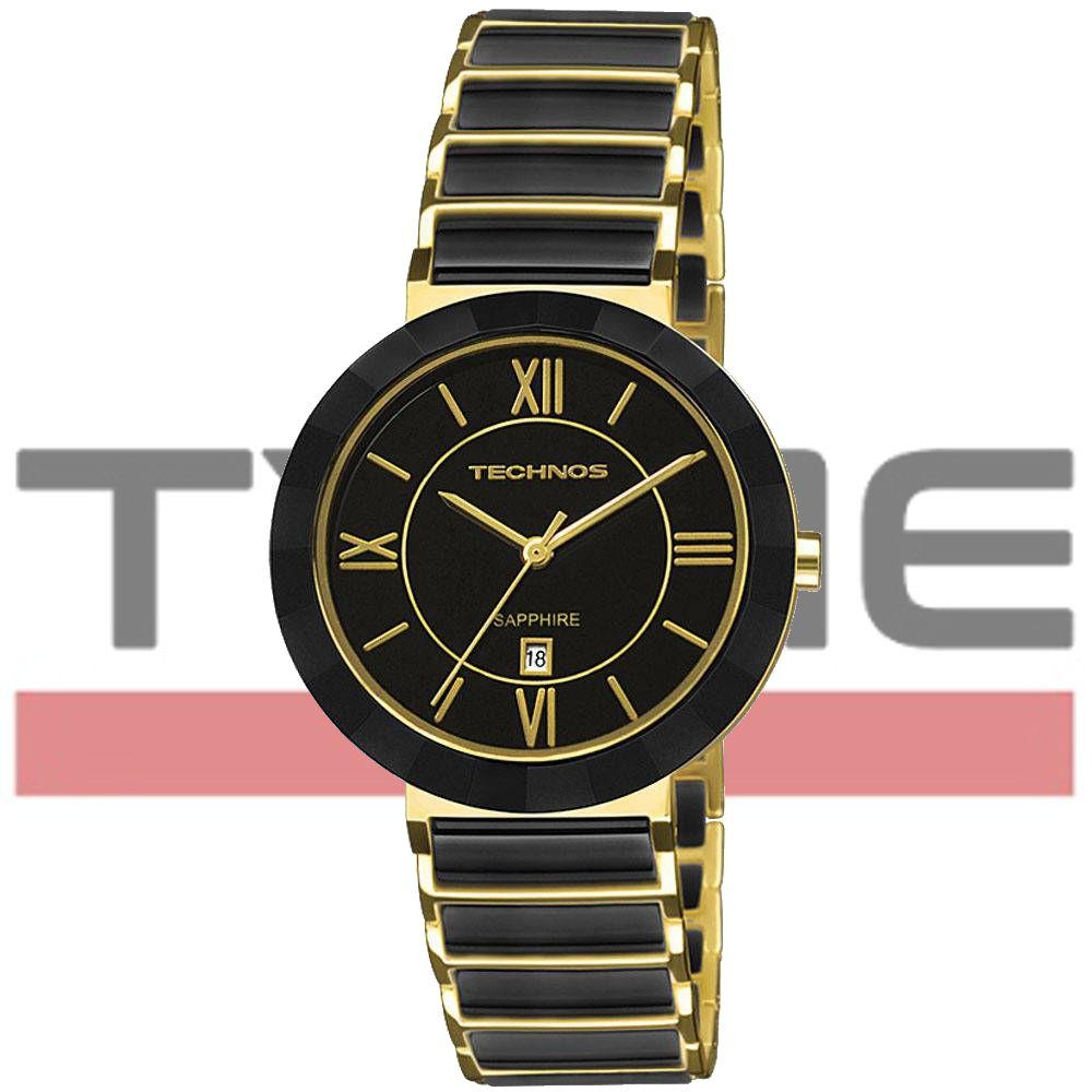 Relógio Technos Feminino Cerâmica Safira 2015CE/4P Tam - Médio 34 mm
