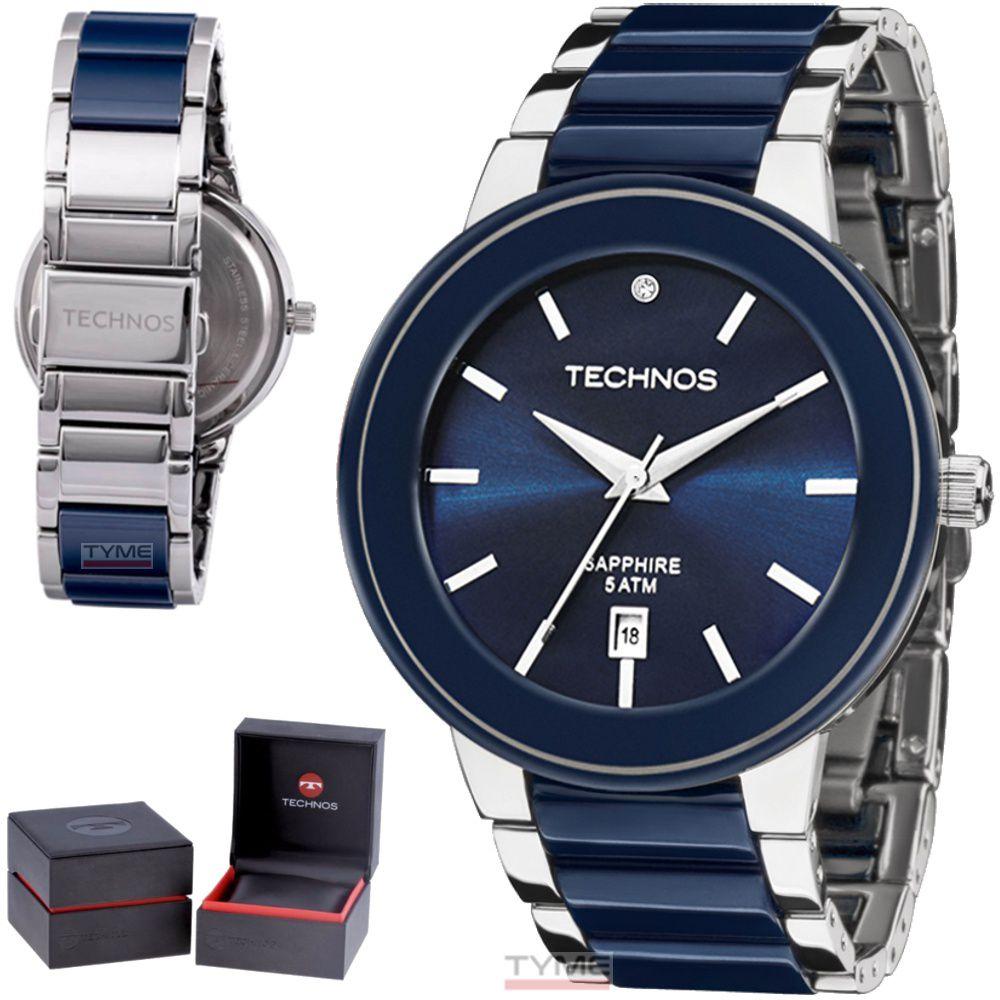 Relógio Technos Feminino Elegance Ceramic Safira 2115KRT/1A