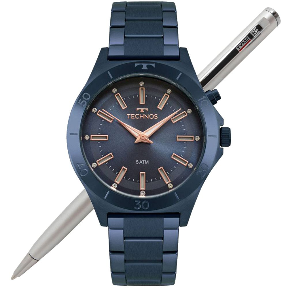 Relógio Technos Feminino Fashion Trend Azul Y121E3AC/4A